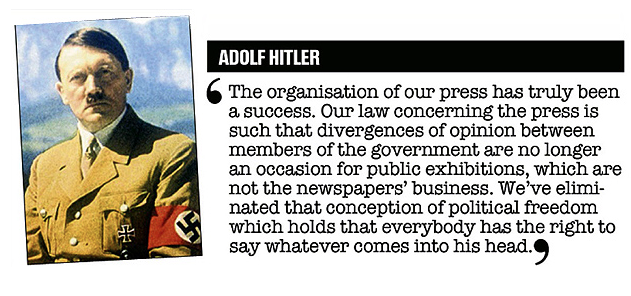 Image result for hitler and the press