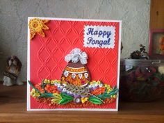 Quilling pongal greeting cards 2016 - quillingpaperdesigns