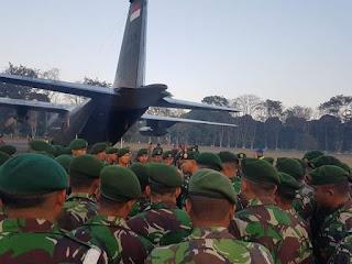 Panglima TNI mengirim Personel  Bankes Gulbencal di Lombok Yonkes 2/YBH/2 Kostrad