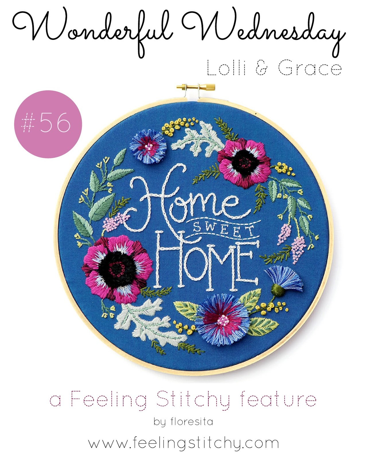 Wonderful Wednesday 56 - Lolli and Grace,  featured on Feeling Stitchy by floresita