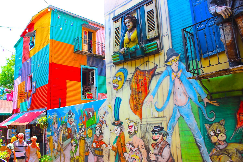buenos aires caminito colourful wall