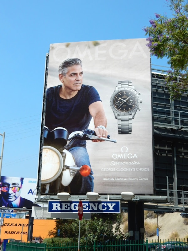George Clooney Omega watch billboard