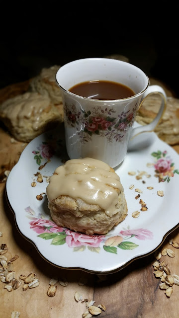Thibeault's Table: Oatmeal Scones with Maple Syrup Glaze