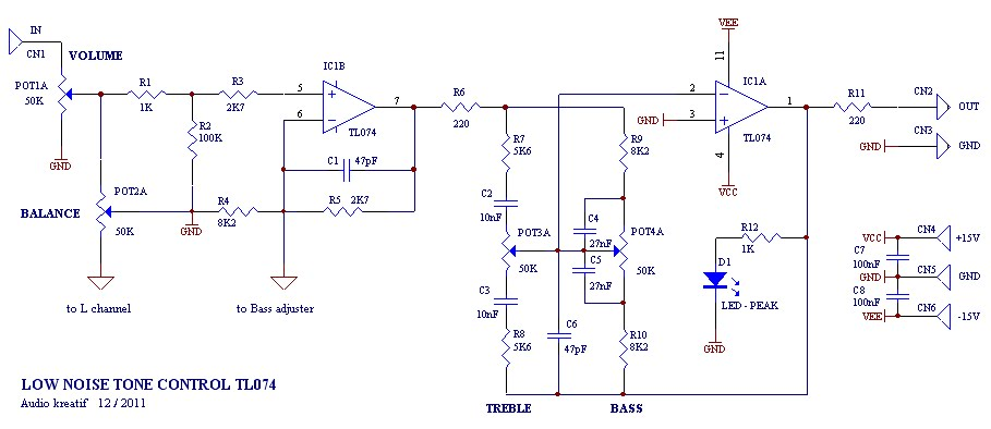 Low Noise Tone Control Circuit