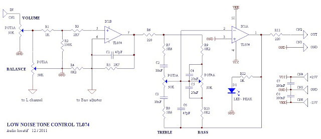 Low Noise Tone Control Circuit Diagram