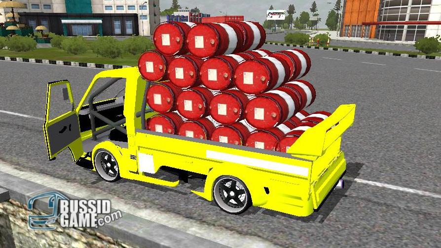 Mod Pickup L300 Muat Drum Gudang Livery Skin Dan Mod Bus