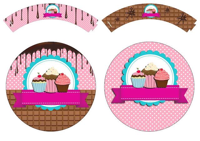 Chicas Haciendo Cupcakes: Wrappers y Toppers para Cupcakes para Imprimir Gratis.