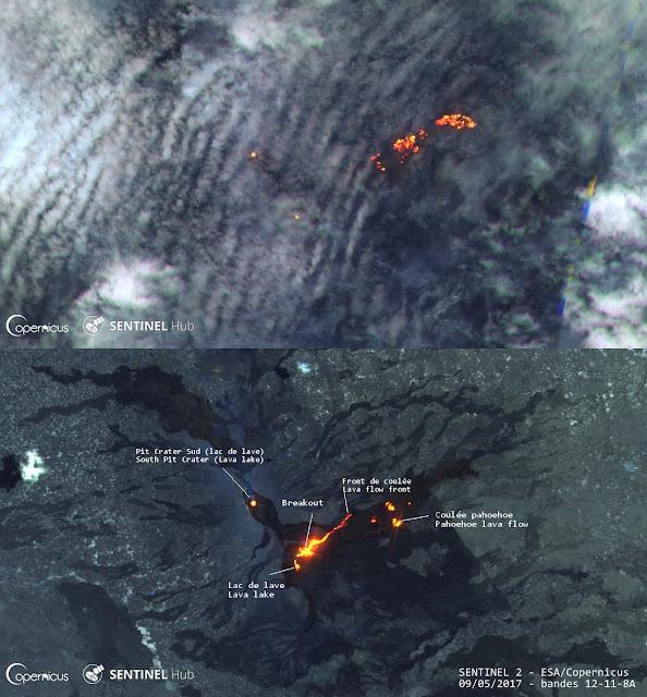 Nouvelle coulée de lave sur le volcan Erta Ale, 09 mai 2017