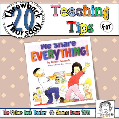 We Share Everything Teaching Tips - TBT