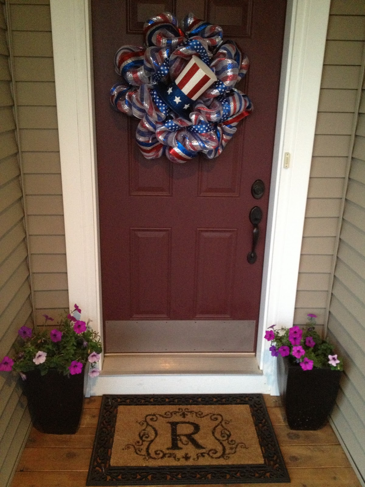 Our Styled Suburban Life Patriotic Wreath