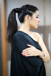 Raashi Khanna Stills in One Shoulder Black Dress ~ Celebs Next