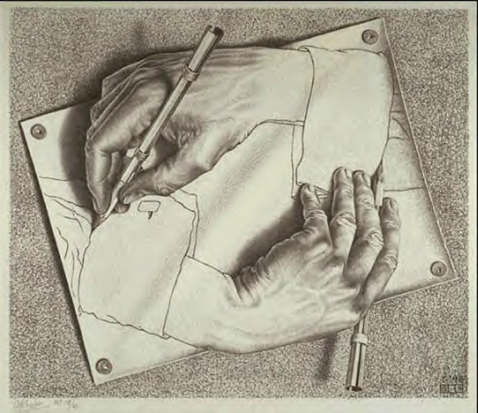 Drawing hands (Escher)