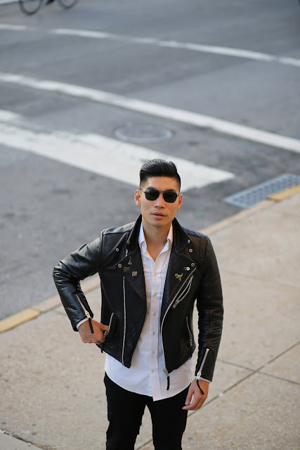 Levitate Style, Menswear Blogger, Leather Jacket pin streetstyle