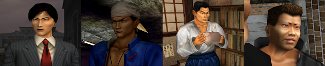 Some of the Shenmue characters voiced by Eric Kelso