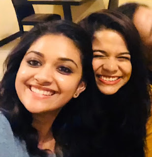 Keerthy Suresh with Cute and Awesome Smile with her Bestiee Latest Selfie