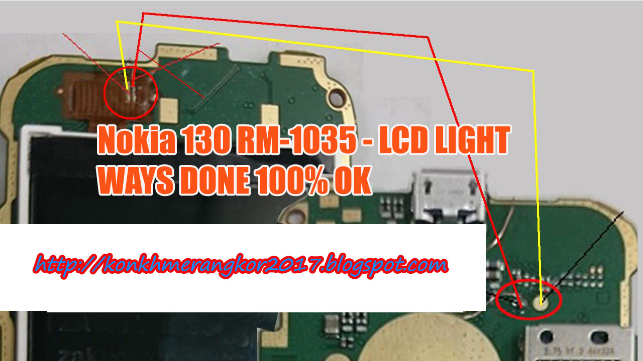 how to repair Nokia RM-1035 Lcd light jumper [khmer]