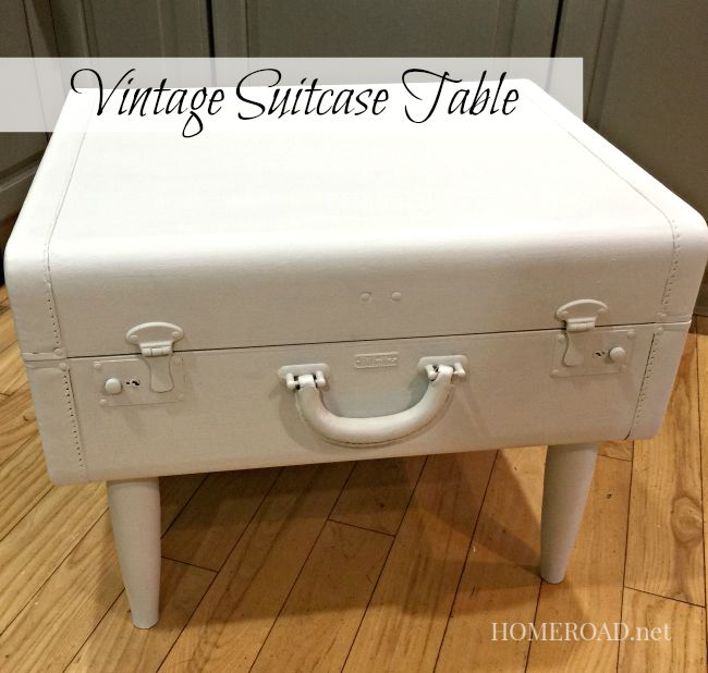 Repurposed Vintage Suitcase Table www.homreoad.net