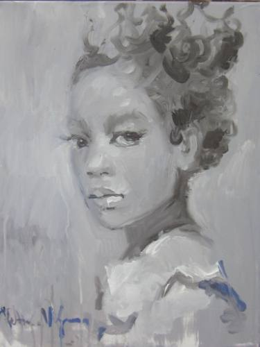 Black And White Girly Paintings