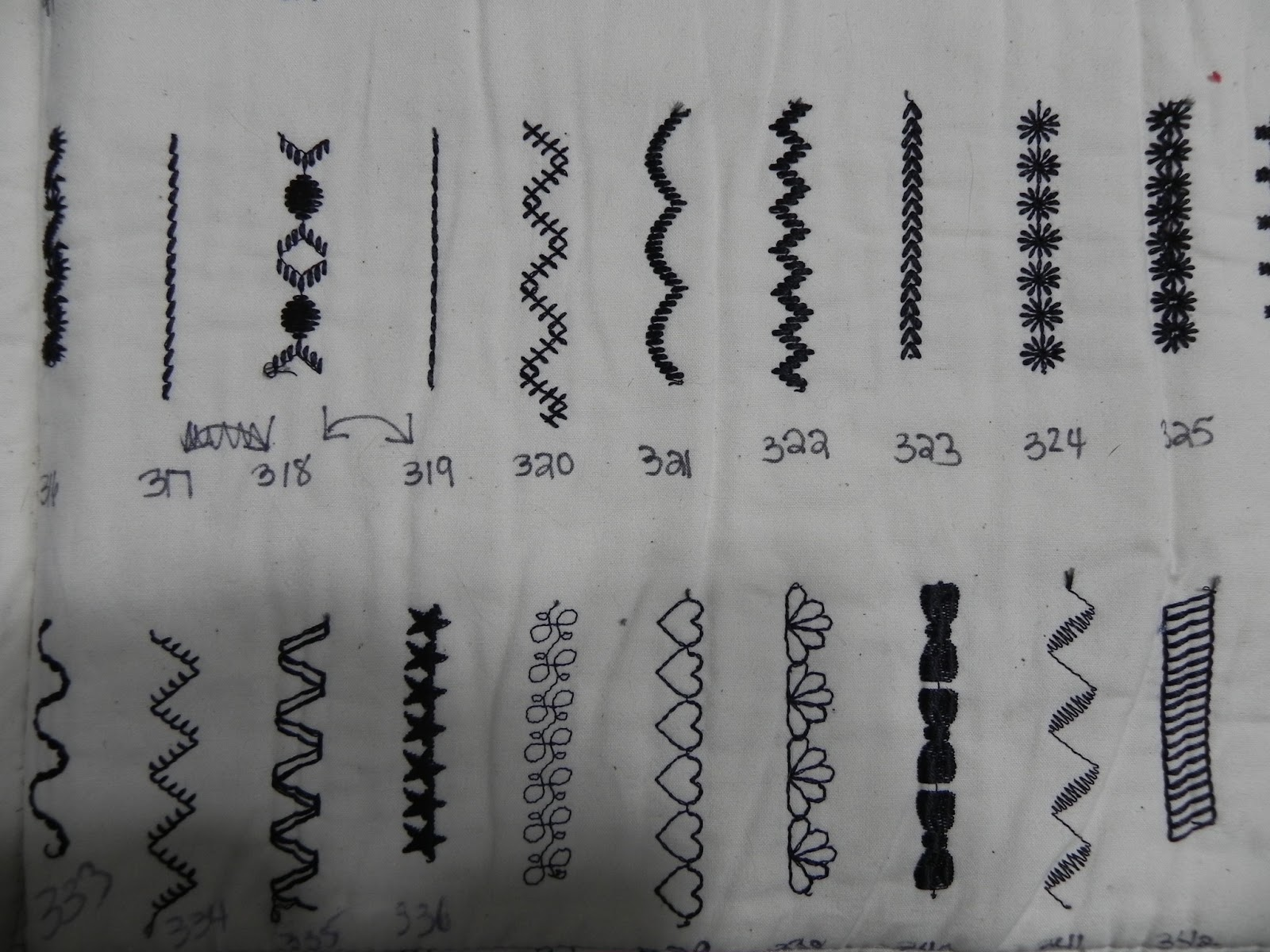 Dinah's Quilts and Embroidery: Sewing Machine Stitch ...