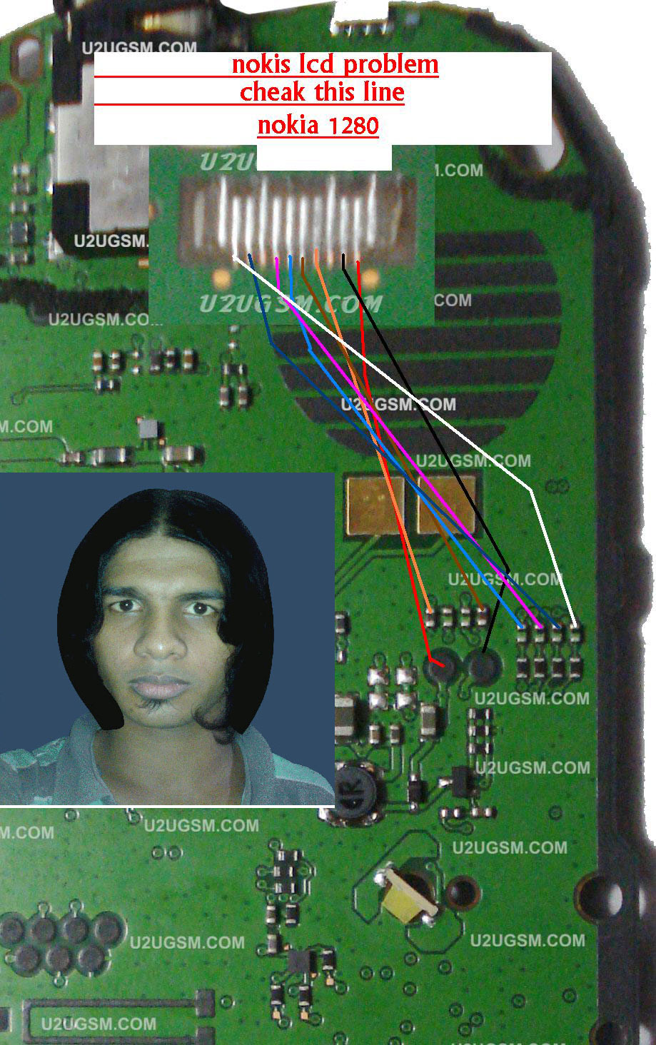 Rahamania Mobile Serviceing  Nokia 1280 Lcd Jumper Solution