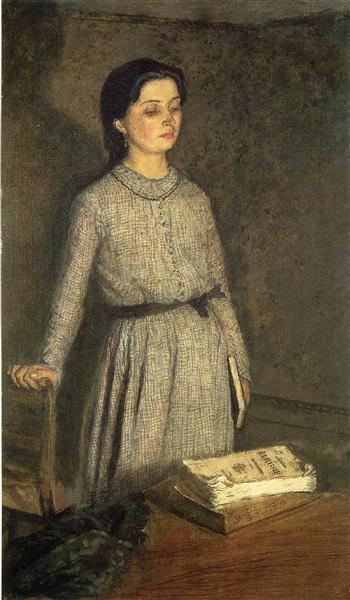Gwendolen Mary John (Gwen John) Студентка