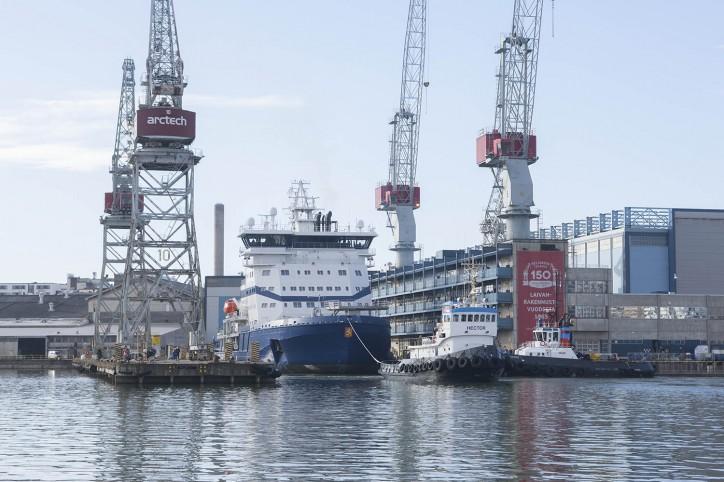 Icebreaker Polaris left on Sea Trial