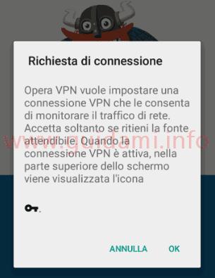 Attivare Opera VPN su Android