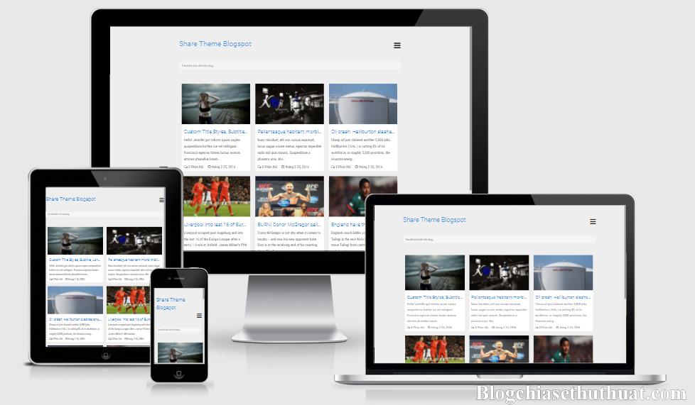 Chia sẻ miễn phí template blogspot cá nhân đẹp chuẩn