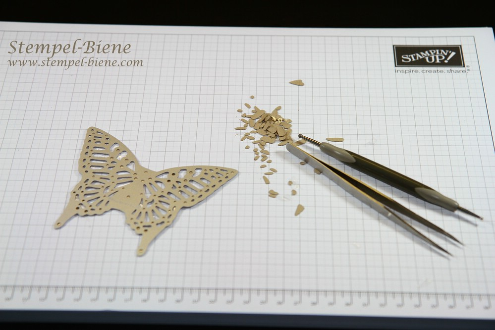 Anleitung Thinlits Form Schmetterlinge, Stampin up Thinlits Schmetterlinge, Stampin up Sale a bration 2015, Stampin Up Sammelbestellung, Stampin Up Bestellen, Stempel-Biene