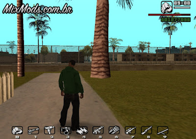 weapon in keys gta sa