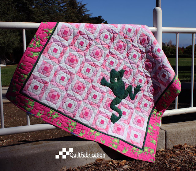 Hoppy quilt in pink