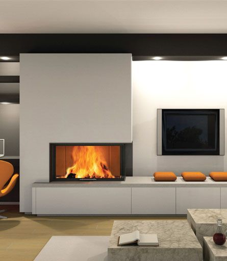 Living Room alongside Fireplace That volition Warm You  35+ Interior Design Ideas With Fireplace That Will Warm You UP