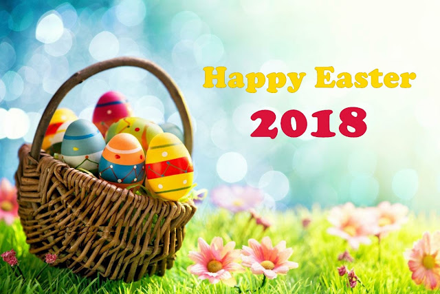 Easter Eggs With Basket Wishes HD images