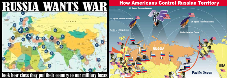 Road To Armageddon Part Empire Of Vanities One World Of - Map of us bases around russia
