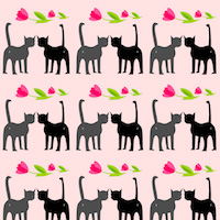 cat valentine pattern
