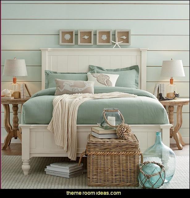 seaside cottage decorating ideas - coastal living living room ideas - beach cottage coastal living style decorating ideas - beach house decor - seashell decor - nautical bedroom furniture