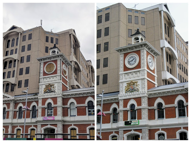 Christchurch Before and After the earthquake: The Chief Post Office Tower