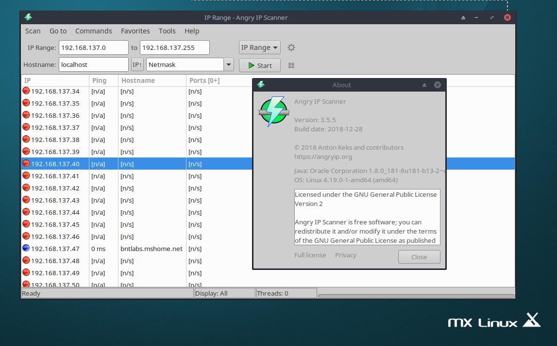 Install AngryIP Scanner 3 5 5 on Ubuntu / Debian 9 / MX Linux and