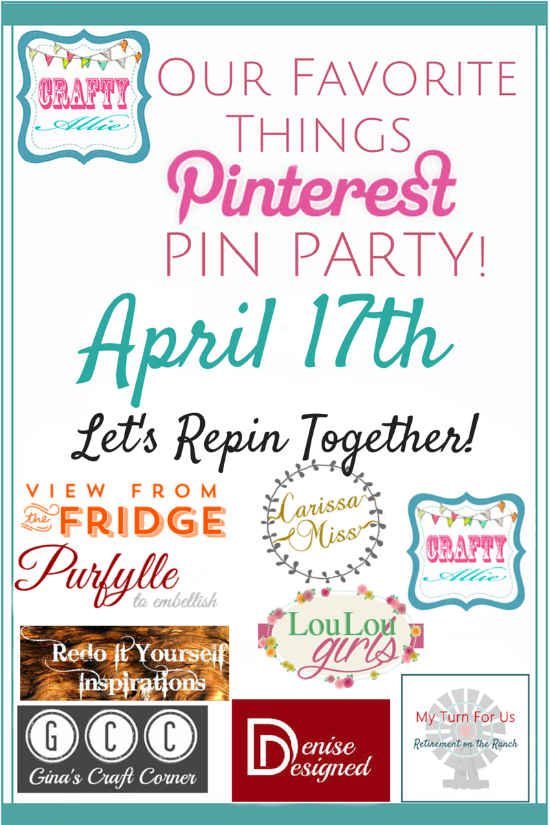 Our Favorite Things Pinterest Pin Party - Every Month