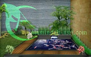 gambar 3 dimensi kolam koi , tukang kolam koi