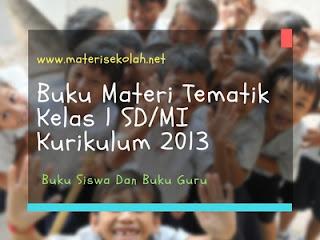 Buku Materi Tematik Kelas 1 SD/MI Kurikulum 2013 Untuk Siswa Dan Guru