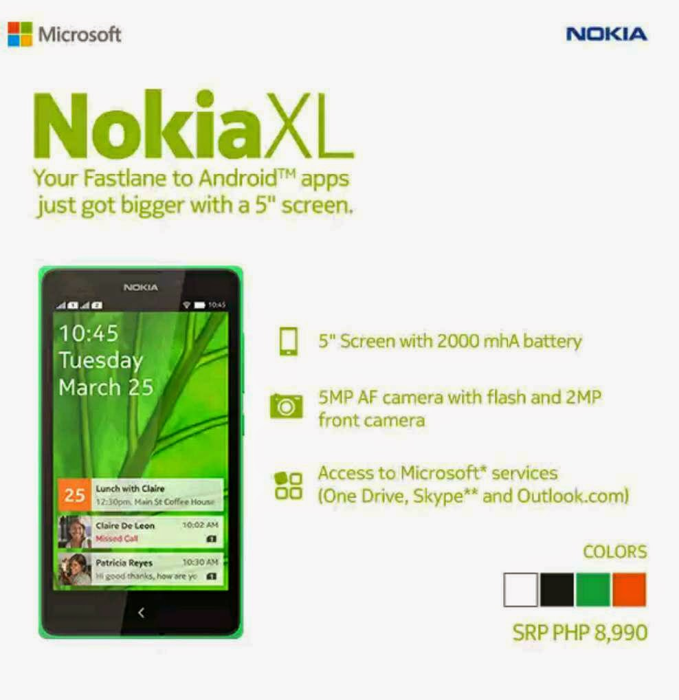 Info Harga Nokia Xl Cyan Update 2018 Jam Tangan Michael Kors Mk2542 Parke Philippines Specs Price Now Available The Same Functionalities That You Love In X