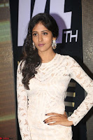 Chandini Chowdary in white Tight dress at Shamanthakamani pre release function ~  Exclusive 051.JPG