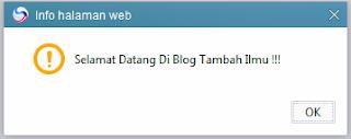 Cara Pasang Skrip Alert Di Blog.
