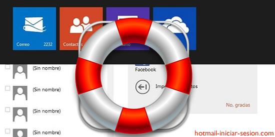 rescatar algún contacto eliminado de Hotmail iniciar sesion