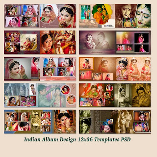 Indian Album Design PSD 12x36 Templates