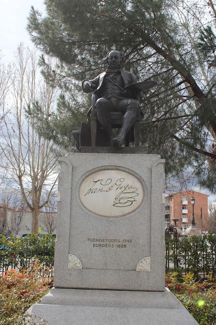 Monumento dedicado a Francisco de Goya en el Paseo de la Florida-Madrid