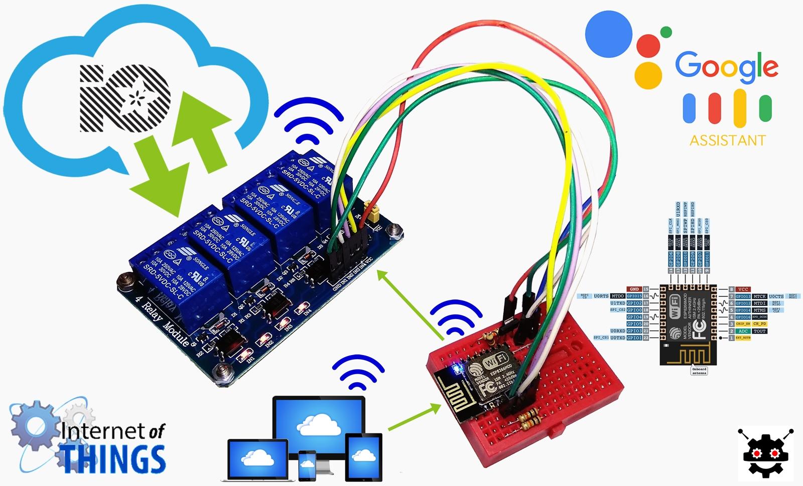 Membuat Google Home menggunakan Chip ESP 12-E Arduino 4