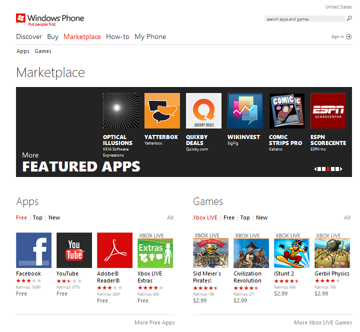 how to download apps for windows phone 7.5 from pc