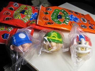 Alcune bustine del giocattolo anni '90 Sfrizzo ti Schizzo